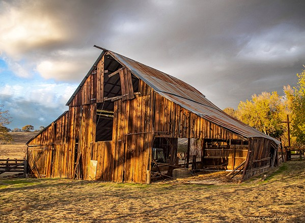 OUT IN THE STICKS Artist Dean Crawford shot the photo The Barn out in a spot called Hog Canyon, just Northeast of Paso Robles. - PHOTO BY DEAN CRAWFORD