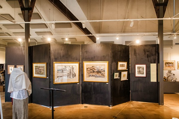 TOGETHER NOW The collection of Milford Zornes' work at the DANA Adobe Cultural Center is a landmark collection from the artist, known as a prominent member of the California Scene Painters movement. Many of Zornes' family members lent their paintings to the center to be featured in the show. - PHOTO BY JAYSON MELLOM