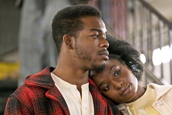 "SEARCHING FOR JUSTICE Tish Rivers (KiKi Layne, right) tries to clear her fiancé, Alonzo ""Fonny"" Hunt (Stephan James, left), of a crime he didn't commit, in If Beale Street Could Talk, based on James Baldwin's novel. - PHOTO COURTESY OF ANNAPURNA PICTUERS"