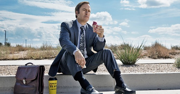 SLIPPIN' JIMMY Bob Odenkirk stars as Jimmy McKill, a morally fraught lawyer living in the shadow of his successful brother, in Breaking Bad's prequel, Better Call Saul. - PHOTO COURTESY OF AMC