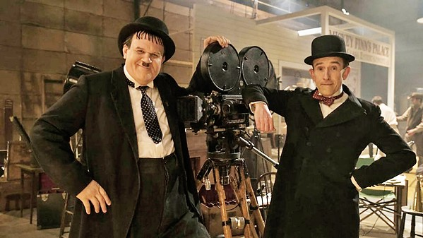 COMEDY CLASSICS John C. Reilly (left) stars as Oliver Hardy, and Steve Coogan as Stan Laurel, in the biopic Stan & Ollie. - PHOTO COURTESY OF BBC FILMS