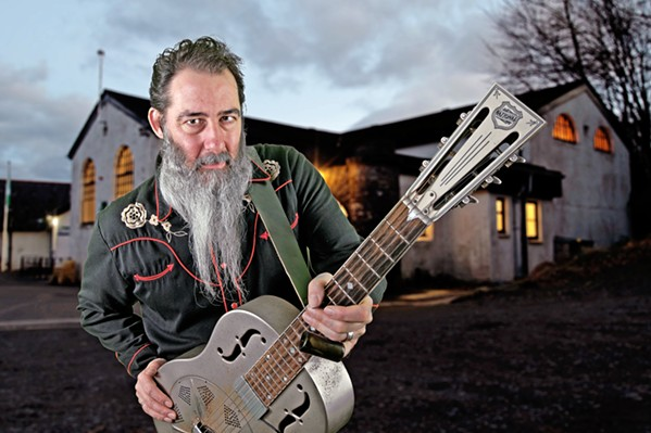 SCOTTISH BLUESMAN Resonator guitar wiz and Delta blues style Scotsman Dave Arcari makes his U.S. West Coast debut on Feb. 2, at The Siren ... for free! - PHOTO COURTESY OF DAVE ARCARI