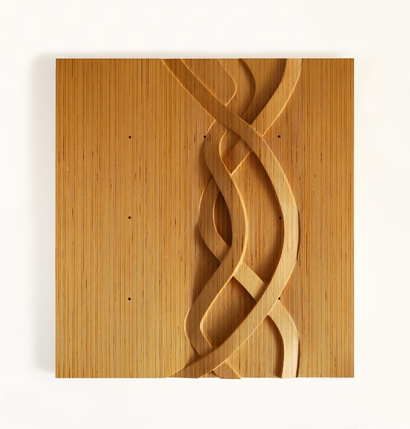 BASICS Wood sculptor Ken Wilbanks creates many of his pieces with birch plywood, a material commonly used in construction projects. - IMAGE COURTESY OF STEPHANIE AND KEN WILBANKS