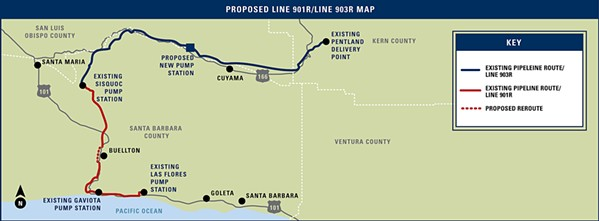 PIPELINE PROJECT A proposed project to replace 123 miles of oil pipeline in three counties, including SLO and Santa Barbara, is receiving both support and opposition. - FILE IMAGE COURTESY OF PLAINS ALL AMERICAN