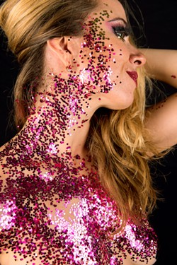 SPARKLE A former tomboy, burlesque dancer Alex Milaychev once eschewed all things girly, including glitter. - PHOTOS COURTESY OF ALEX MILAYCHEV