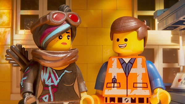 EVERYTHING'S NOT AWESOME Citizens of Lego Land face a new threat: LEGO DUPLO invaders from space, in The Lego Movie 2: The Second Part. - PHOTO COURTESY OF ANIMAL LOGIC