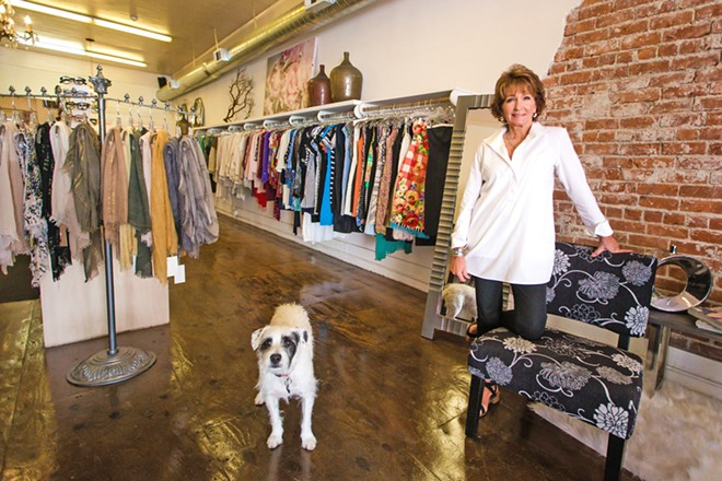 FIND IT, KEEP IT Debora Fogg has owned Finders Keepers on Garden StREET for almost 20 years. But even the best consignment store in the county is wondering when construction on GARDEN street will finally end. - PHOTO BY JAYSON MELLOM