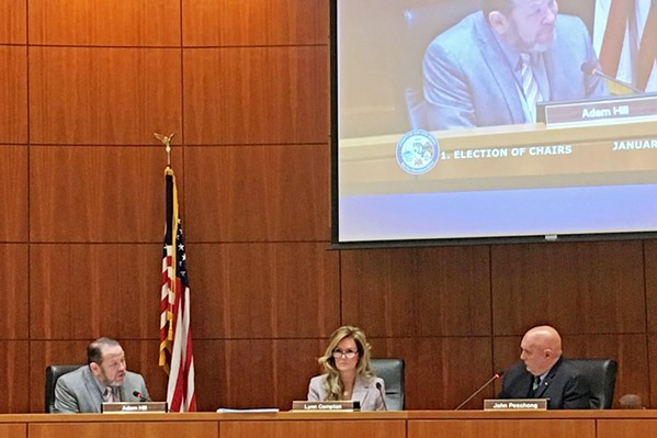 OUT WITH THE OLD? SLO County supervisors (pictured) and Clerk-Recorder Tommy Gong are set to discuss adopting a new election model for 2020 on Feb. 26. - FILE PHOTO BY PETER JOHNSON