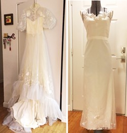 RENEWED SENTIMENT Teresa Leigh transformed a mother-of-the-bride's outdated gown into a chic masterpiece. - PHOTOS COURTESY OF T.LEIGH COUTURE