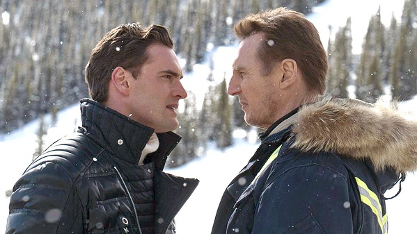 MANO A MANO Drug dealer Viking (Tom Bateman, left) meets his match when Nels Coxman (Liam Neeson, right) sets out to avenge the death of his son. - PHOTO COURTESY OF PARADOX FILMS