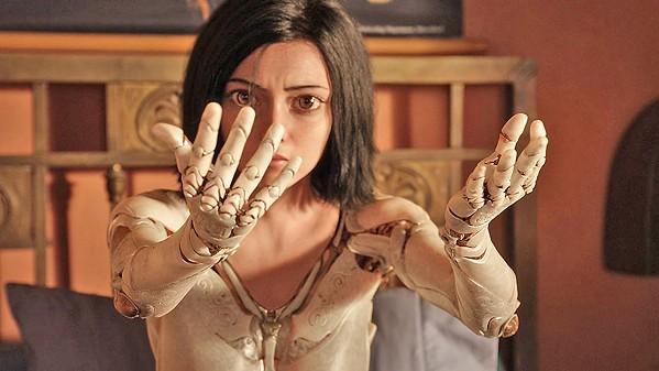 'WHAT AM I?' A human/cyborg hybrid (Rosa Salazar) tries to figure out her purpose, in Alita: Battle Angel. - PHOTO COURTESY OF TWENTIETH CENTURY FOX