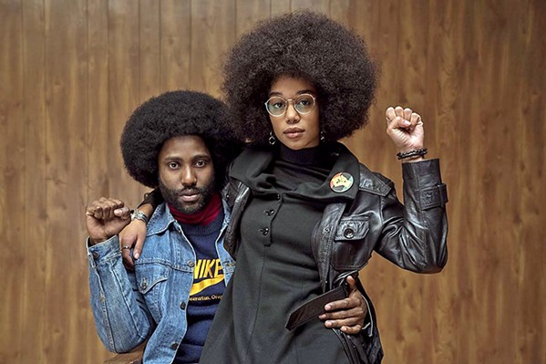 UNDERCOVER BROTHER Ron Stallworth (John David Washington, left) infiltrates the local KKK through a phone call, in BlacKkKlansman, nominated for six Oscars including Best Picture. - PHOTO COURTESY OF 40 ACRES & A MULE FILMWORKS