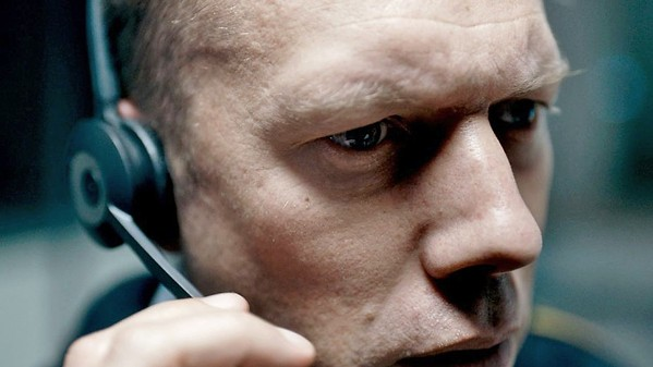 THE PHONE CALL In Denmark's official entry into this year's Academy Awards, The Guilty, police officer Asger Holm (Jakob Cedergren) on dispatch duty tries to find a kidnapped woman using only his telephone. - PHOTO COURTESY OF NORDISK FILM