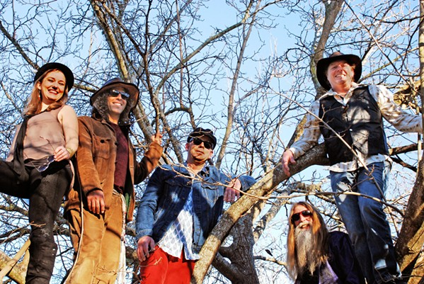 NEO-PROG Triptastic shamanic music ensemble Zen Mountain Poets play two shows this week, Feb. 21 at the SLO farmers' market; and Feb. 23 at Puffers of Pismo. - PHOTO COURTESY OF TIMO BECKWITH