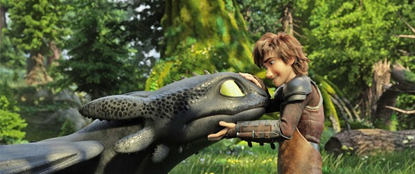 NOT ALONE When Hiccup (right, voiced by Jay Baruchel) discovers his dragon, Toothless, isn't the only living Night Fury, they go in search of the hidden Dragon utopia, in How to Train Your Dragon: The Hidden World. - PHOTO COURTESY OF DREAMWORKS ANIMATION