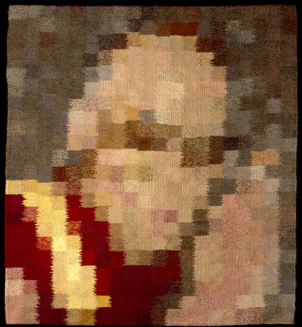 GOLDEN Artist Michael Rohde captures blurred faces in his tapestries of famous people like the Dalai Lama, above (titled Compassion), and Martin Luther King Jr., below (Dream), who embody the kind of people Rohde wishes to be like. - PHOTOS COURTESY OF MICHAEL ROHDE