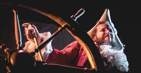 MURKY FUTURE Captain Farnsworth (Craig Culp) steers his ship into unknown waters in a Cuesta College Drama Program original production, Ghost Ship. - PHOTOS COURTESY OF CASEY WIEBER
