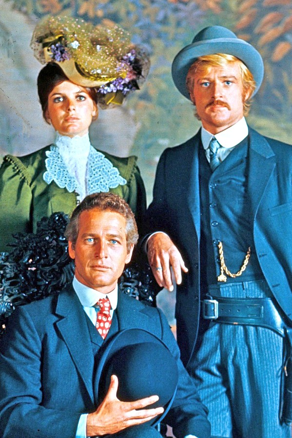 OUTLAWS Butch Cassidy (Paul Newman), Sundance (Robert Redford), and Etta (Katharine Ross) star in Butch Cassidy and the Sundance Kid, screening March 12, at the Fremont Theater. Ross will perform with the Malibu Coast Silent Film Orchestra prior to the screening. - PHOTO COURTESY OF TWENTIETH CENTURY FOX