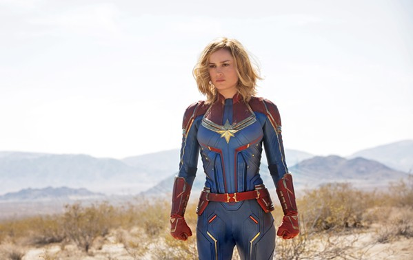 DUTY CALLS When Earth is caught in a war between two alien species, Carol Danvers (Brie Larson) becomes the titular superhero, in Captain Marvel. - PHOTO COURTESY OF MARVEL STUDIOS