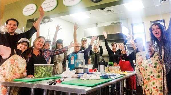 THEY'RE BACK Volunteers at the Wellness Kitchen and Resource Center in Templeton are glad to be back home after an Oct. 21, 2018, fire destroyed their kitchen. - PHOTO COURTESY OF THE WELLNESS KITCHEN