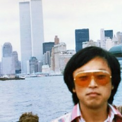 TWIN TOWERS Asian Bistro owner and chef Park Steve worked on the 107th floor of the World Trade Center during the late '80s/early '90s. He took this photo while out on a ferry tour. - PHOTO COURTESY OF PARK STEVE