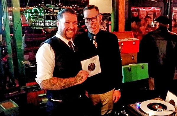 DANCE CRAZE! DJs Curtis Campbell (left) and Josh Whipple (right), known as The Ideals, will spin vintage '60s vinyl at SLO's Giuseppe's Cucina Rustica on March 30, as part of the 30th annual Push-Start Scooter Club's Rides of March scooter rally. - PHOTO COURTESY OF THE IDEALS