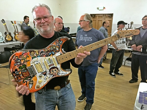 CUSTOM CLASSIC John Summers of SLO shows a guitar he custom painted. See more great guitars at the Central Coast Guitar Show on March 30 in the SLO Vets Hall. - PHOTO COURTESY OF THE CENTRAL COAST GUITAR SHOW