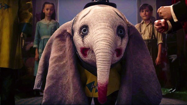 EXPLOITED? Dumbo, a flying baby elephant, becomes a circus star, but it comes at a price, in Walt Disney's live action family fantasy, Dumbo. - PHOTO COURTESY OF WALT DISNEY PICTURES