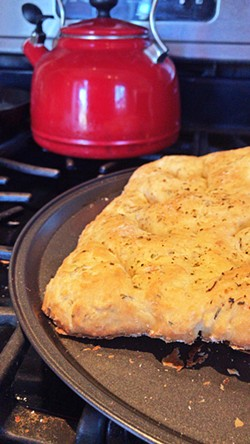 CRUSTY Fougasse, which my cousin baked by following Great British Bake Off star Paul Hollywood's recipe, is a soft and herby bread. - PHOTO BY PARISA AMINI