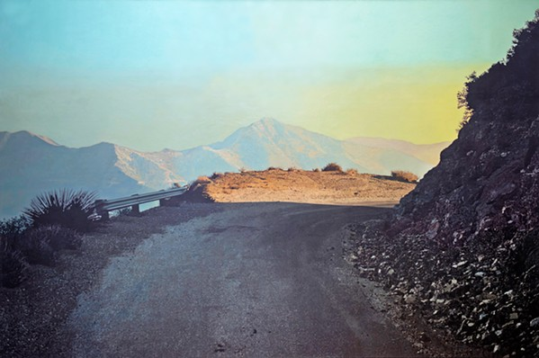 STOP AND STARE Sand Canyon Road, a large-scale painting at 85-by-127 inches, was inspired by Templeton-based artist Bruce Everett's wanderings through the San Gabriel Mountains near Burbank. - IMAGES COURTESY OF BRUCE EVERETT