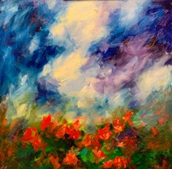 BLOOM Artist Roberta Fisher's painting Wildflowers is an amalgam of every wildflower she's seen. - IMAGE COURTESY OF ROBERTA FISHER