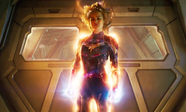 SHE'S GOT THE POWER Former U.S. Air Force fighter pilot Carol Danvers (Brie Larson) becomes the superhero Captain Marvel, in Captain Marvel. - PHOTO COURTESY OF WALT DISNEY PICTURES AND MARVEL STUDIOS