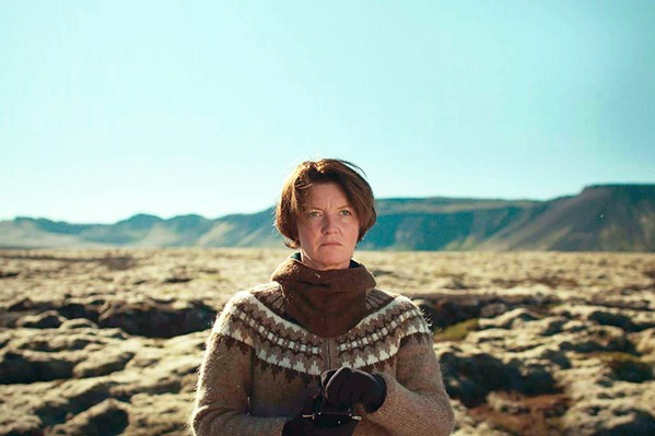 ECO-TERRORIST Environmental activist, Halla (Halldóra Geirharðsdóttir), has second thoughts about her crusade against the Icelandic aluminum industry when her long-forgotten application to adopt an orphan child from Ukraine gets approved, in Woman at War. - PHOTO COURTESY OF VILLAGE PICTURES
