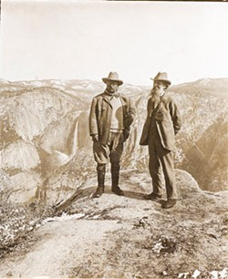 THE GREAT LOOP TOUR A few days after former President Teddy Roosevelt gave a speech in San Luis Obispo, he and Sierra Club founder John Muir (right) met in Yosemite. Roosevelt's 14,000-mile tour through the West in 1903 influenced his later establishment of national parks and monuments. - PHOTO COURTESY OF THE LIBRARY OF CONGRESS