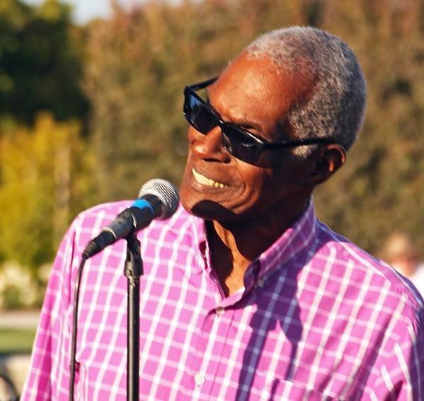 FOR WOUNDED VETS Roy Henry, known locally for his role as Ray Charles, is a guest performer with Unfinished Business during the band's annual Memorial Day fundraiser on May 27 at the Avila Beach Golf Resort. - PHOTO COURTESY OF ROY HENRY