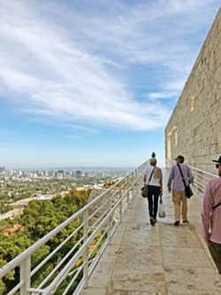 GET ME SOME GETTY Built atop a hill, the Getty Museum offers incredible views of Los Angeles, not to mention gorgeous architecture, grounds, and, oh yeah, art. - PHOTOS BY PETER JOHNSON