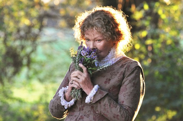 SHAKESPEARE's WIFE Judi Dench stars as Anne, spouse to the famed bard, who returns to her after The Globe Theatre burns, in the imaginative biographical drama, in All Is True. - PHOTO COURTESY OF TKBC