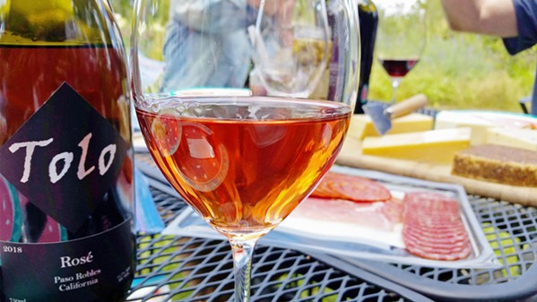 CHEERS For this Memorial Day picnic, as we celebrated my mom and stepdad's 25th anniversary, we brought a DIY tapas spread. The array of Spanish meats and cheeses perfectly complemented Tolo's rosé. - PHOTOS BY ANDREA ROOKS