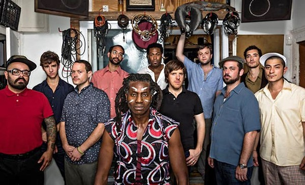 AFROBEAT AT LIVE OAK Antibalas brings its world beat sounds to the second day of the Live Oak Music Festival, June 21 to 23, at El Chorro Regional Park. - PHOTO COURTESY OF ANTIBALAS