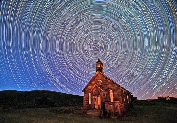 BRIGHT Morro Bay photographer Alice Cahill shot Holy Night in Bodie, California, at night. The piece won Honorable Mention. - PHOTO COURTESY OF ALICE CAHILL