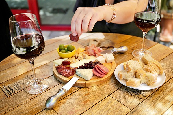 PAIR IT UP At Vivant Artisan Cheese shop in Paso Robles, you can pair your wine with a curated meat and cheese plate and a seat on the patio. - PHOTO COURTESY OF VIVANT ARTISAN CHEESE