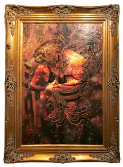 BLIND LOVE According to artist Deprise Brescia, everyone sees something different when they look at her encaustic painting, Masquerade of Love. - PHOTOS COURTESY OF DEPRISE BRESCIA