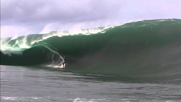 JUNE 13 ONLY! The surf documentary, Heavy Water–The Acid Drop, screens June 13 in Downtown Centre Cinemas. It depicts surfers like Nathan Fletcher dropping by helicopter into huge surf. - PHOTO COURTESY OF FATHOM EVENTS