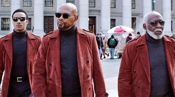 "TALKIN' 'BOUT SHAFTS Three generations of John Shafts—(left to right) John ""JJ"" Shaft Jr. (Jesse T. Usher), John Shaft II (Samuel L. Jackson), and John Shaft I (Richard Roundtree)—team-up to search for a killer, in Shaft. - PHOTO COURTESY OF DAVIS ENTERTAINMENT"