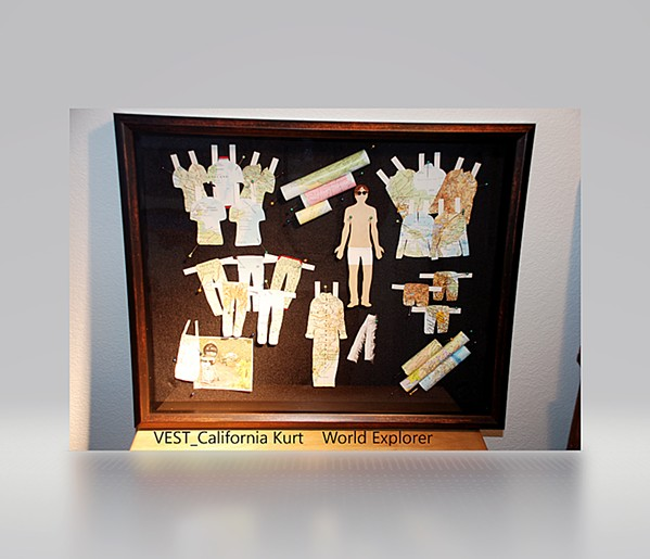 THROWBACK Paso Robles artist Nancy Vest's three-dimensional piece, World Explorer, takes inspiration from the times when she'd play with paper dolls as a child. - PHOTO COURTESY OF NANCY VEST