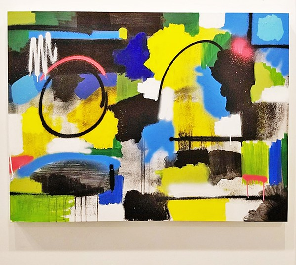 ABSTRACT Tony Girolo's show, Lost and Found, partly refers to his mix of representational and abstract art, including pieces like Pastoral. - IMAGES COURTESY OF TONY GIROLO