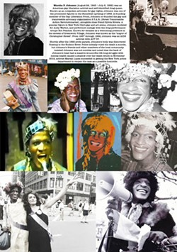 FLASHBACK In her art honoring the Stonewall riots, photographer Lynn Schmidt played with digitally manipulating and collaging her images, like in this piece on LGBTQ activist Marsha P. Johnson. - IMAGES COURTESY LYNN SCHMIDT