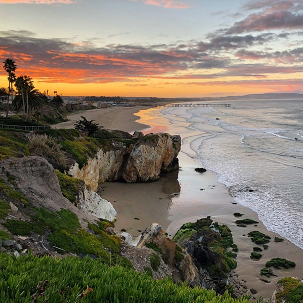 LOCAL Photographer Vanessa Veiock relocated to the Central Coast from the East Coast in July and enjoys taking photos of local spots, like the cliffs at Pismo Beach. - PHOTOS COURTESY OF VANESSA VEIOCK