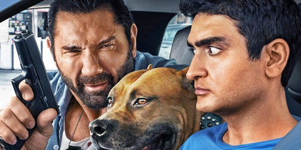 BUDDY FLICK Vic (Dave Bautista, left), a hard-nosed detective, enlists his Uber driver, mild-mannered Stu (Kumail Nanjiani), to track down a terrorist, in the comedy action film Stuber. - PHOTO COURTESY OF TWENTIETH CENTURY FOX