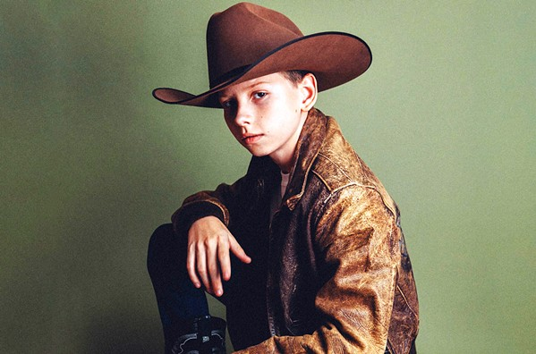YOUNG GUN Twelve-year-old rising country star Mason Ramsey plays the Fort Frontier Stage in Paso Robles on July 23, during the California Mid-State Fair. - PHOTO COURTESY OF NICK SWIFT